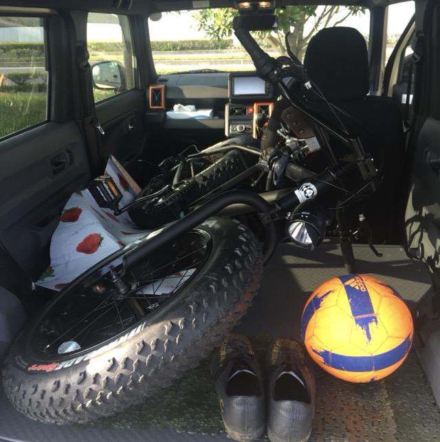 20インチのファットバイクを車に積んでみた