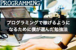 【無料&独学】プログラミングで稼げるようになるために僕が選んだ勉強法