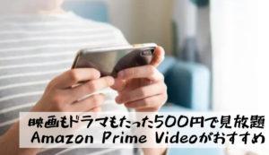 【YouTubeで足りないならAmazon Prime Video|映画もドラマもたったの500円で見放題】